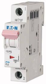 Автоматичні вимикачі PL6 (характеристика C 6kA) EATON 1-полюсні