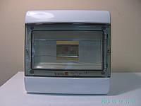 Щиток (Шкаф, Ящик) пластиковый распредилительный встраиваемый  на 9 модулей автоматов