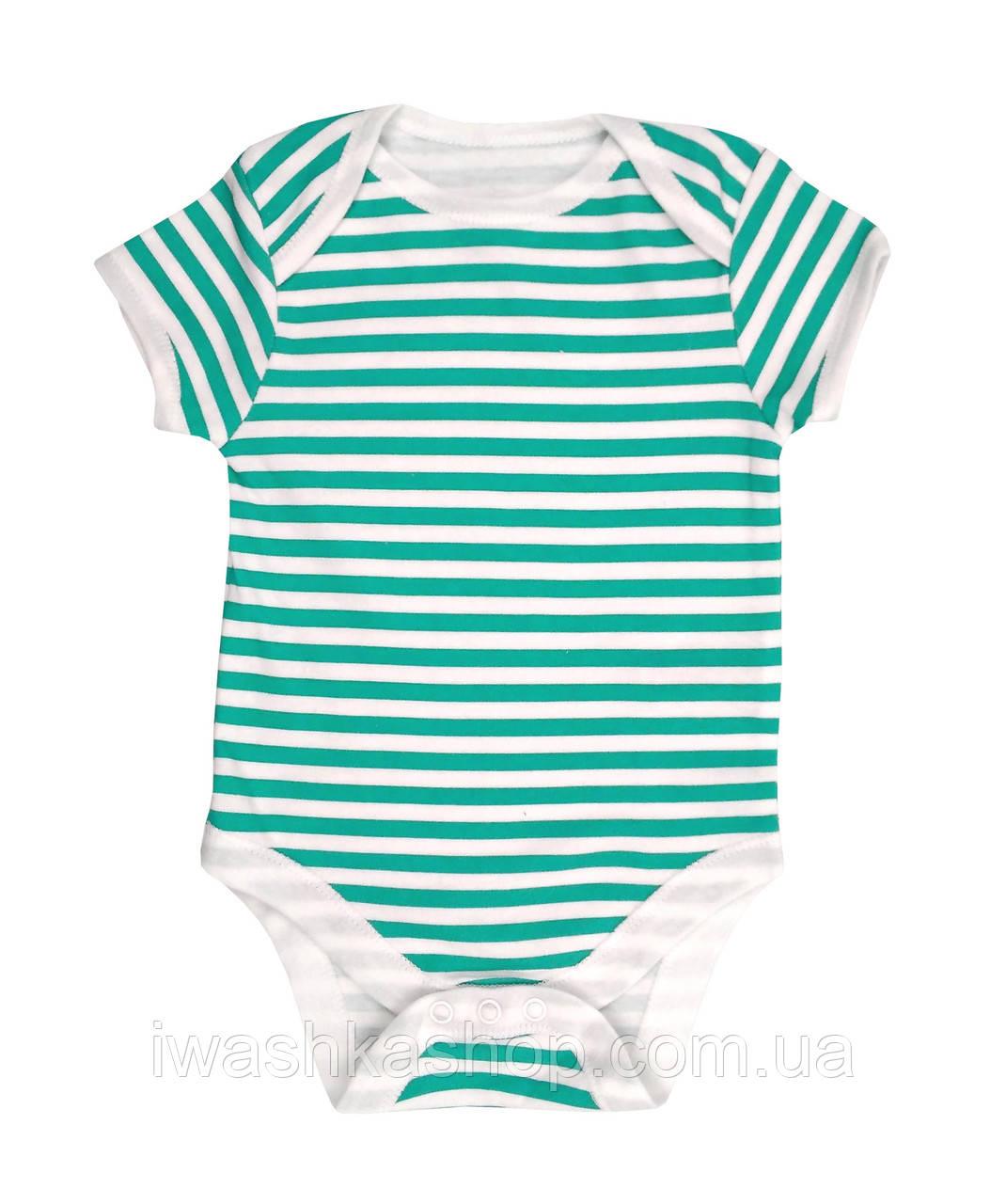 Біле боді з коротким рукавом в смужку для новонароджених малюків до 4,5 кг. р. 56, Early days by Primark