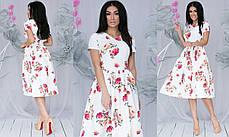 Платье  миди цветы в расцветках  701107, фото 2