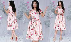 Платье  миди цветы в расцветках  701107, фото 3