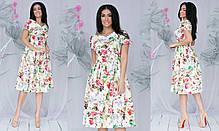 Сукня міді квіти в кольорах 701107, фото 2