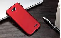 Чехол накладка бампер для LG L90 (D410) бордовый