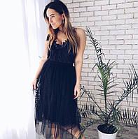 Фатиновые плиссированные юбки с вышивкой