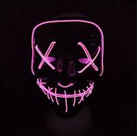 🔝 Маска хэллоуин, маски страшные, цвет - розовый, маски на хэллоуин | 🎁%🚚