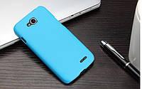 Чехол накладка бампер для LG L90 (D410) голубой
