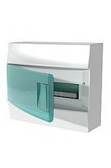 Mistral IP41 шкаф накладной, 12 модулей,  прозрачная дверь