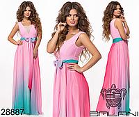 Вечернее платье макси в пол длинное размеры 42-46