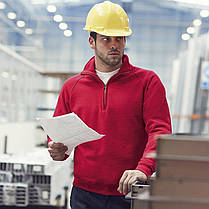 Классический мужскай свитер на молнии до груди 62-114-0, фото 3