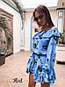 Стильное платье с воланами «Жаннет» ткань: супер Soft.  Размер: 42-46. Разные цвета (6322), фото 2
