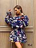 Стильное платье с воланами «Жаннет» ткань: супер Soft.  Размер: 42-46. Разные цвета (6322), фото 3