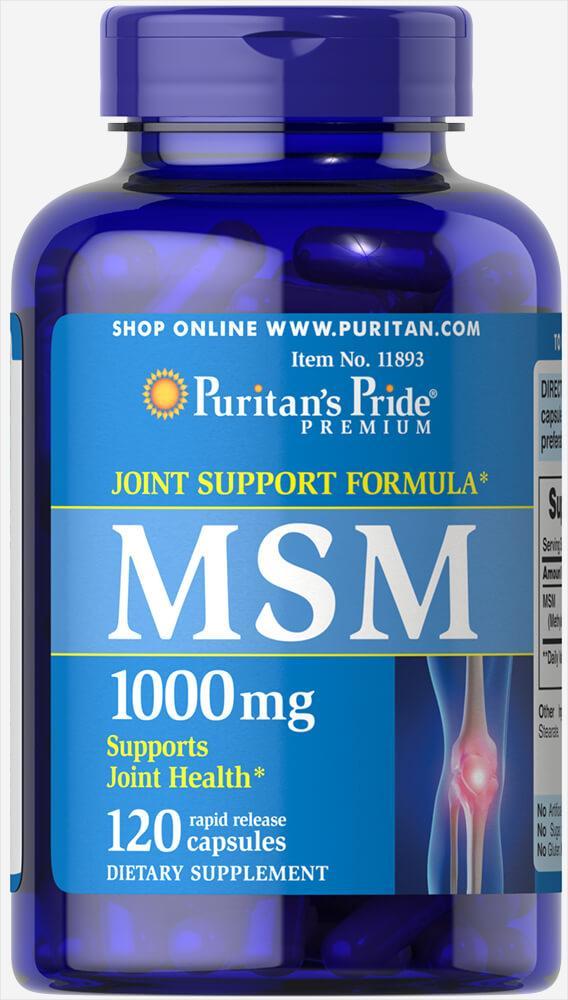 MSM 1000 mg120 Capsules