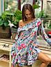 Стильное платье с воланами «Жаннет» ткань: супер Soft.  Размер: 42-46. Разные цвета (6322), фото 5