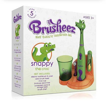 Детская зубная электрическая щетка Brusheez Snappy tre Croc, фото 2
