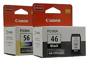 Картридж Canon PG-46 Black + CL-56 Color (набор картриджей) + Фотобумага GP-501 (10x15 50 листов) 9059B003