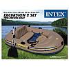 Надувная Лодка Intex 68318 длина 241х145x42см EXCURSION двух местная сет/set, фото 4