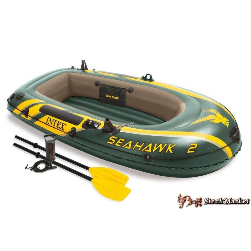 Надувная лодка Intex 68347 236 х 114 х 41 см двухместная трехкамерная set
