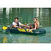 Надувная лодка Intex 68347 236 х 114 х 41 см двухместная трехкамерная set, фото 3