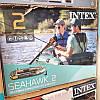 Надувная лодка Intex 68347 236 х 114 х 41 см двухместная трехкамерная set, фото 4