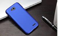 Чехол накладка бампер для LG L90 (D410) синий