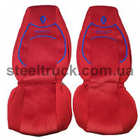 Чехол на сиденья RENAULT Premium (пилот), красный
