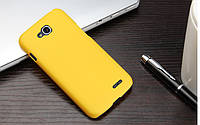 Чехол накладка бампер для LG L90 (D410) жёлтый