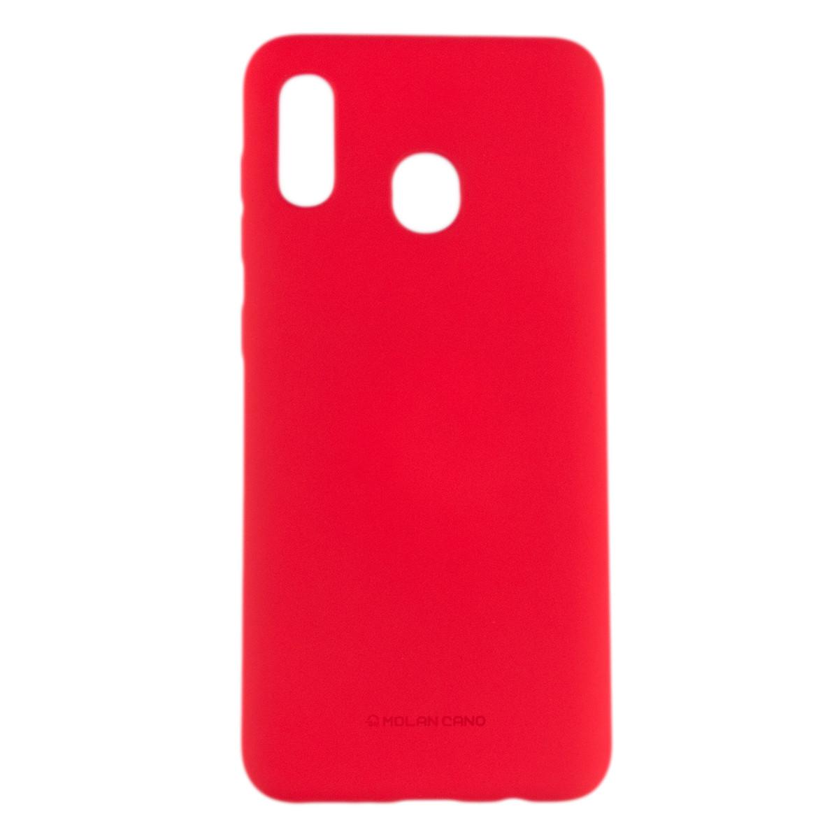 Оригинальный силиконовый чехол Molan Cano Jelly Case для Samsung Galaxy A30 (SM-A305) (красный)