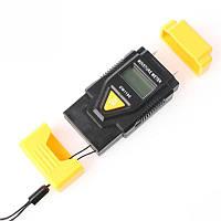 Влагомер и термометр для измерения влажности древесины и строительных материалов
