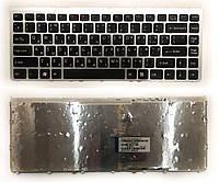 Клавиатура для ноутбука SONY VAIO VGN-FW с серым фреймом RU черная новая