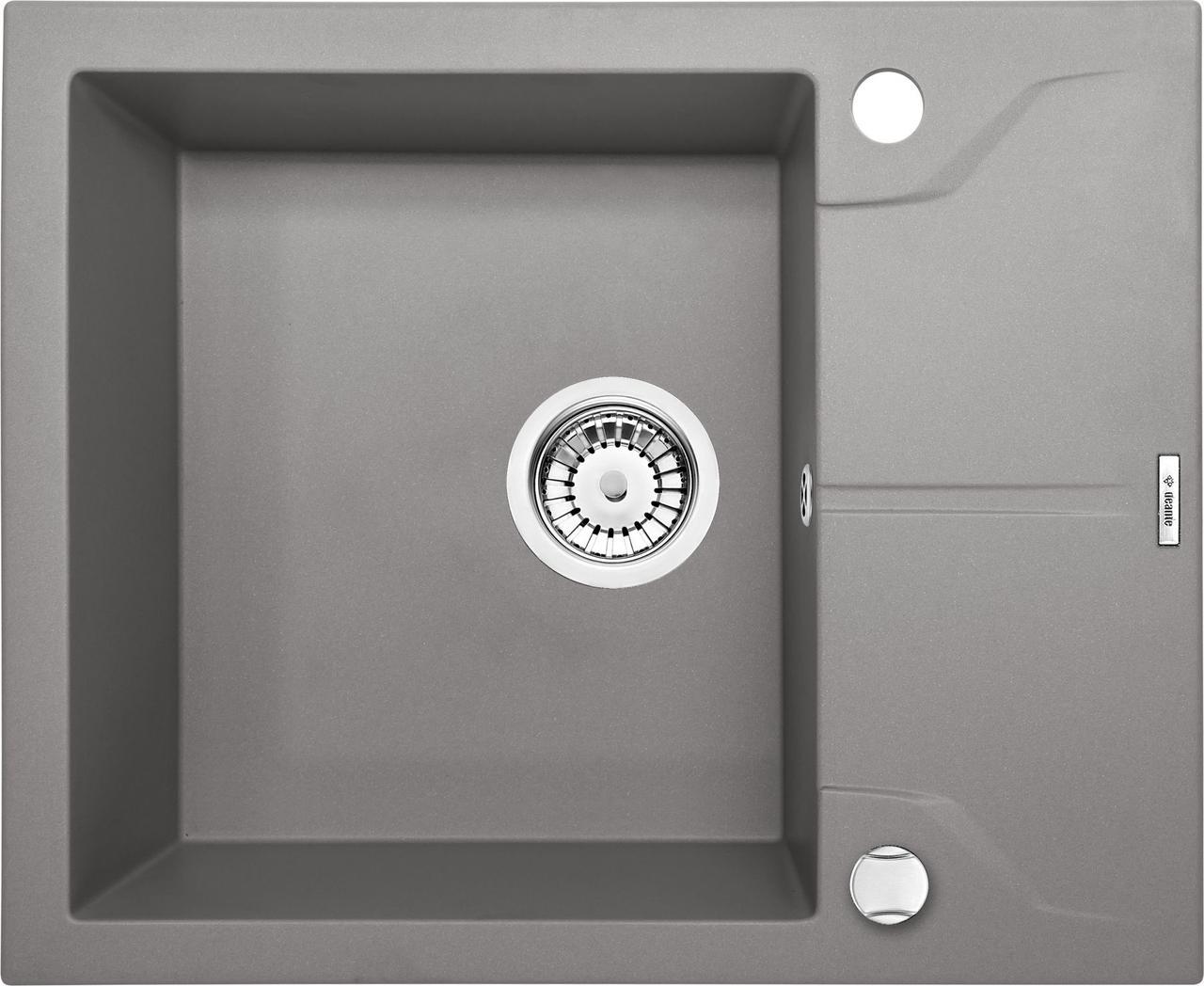 Мойка гранитная Deante Andante ZQN S11A серый металлик 59*49