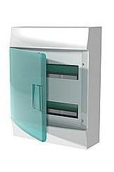 Mistral IP41 шкаф накладной, 36 (2х18) модулей,  прозрачная дверь