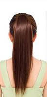 Шиньон Хвост ровный длинный 45 см. каштановый, фото 1