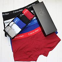 Мужские трусы боксеры Calvin Klein в подарочной упаковке модель 365 5шт хлопок + 3ш носков в подарок, фото 2