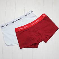 Мужские трусы боксеры Calvin Klein в подарочной упаковке модель 365 5шт хлопок + 3ш носков в подарок, фото 3