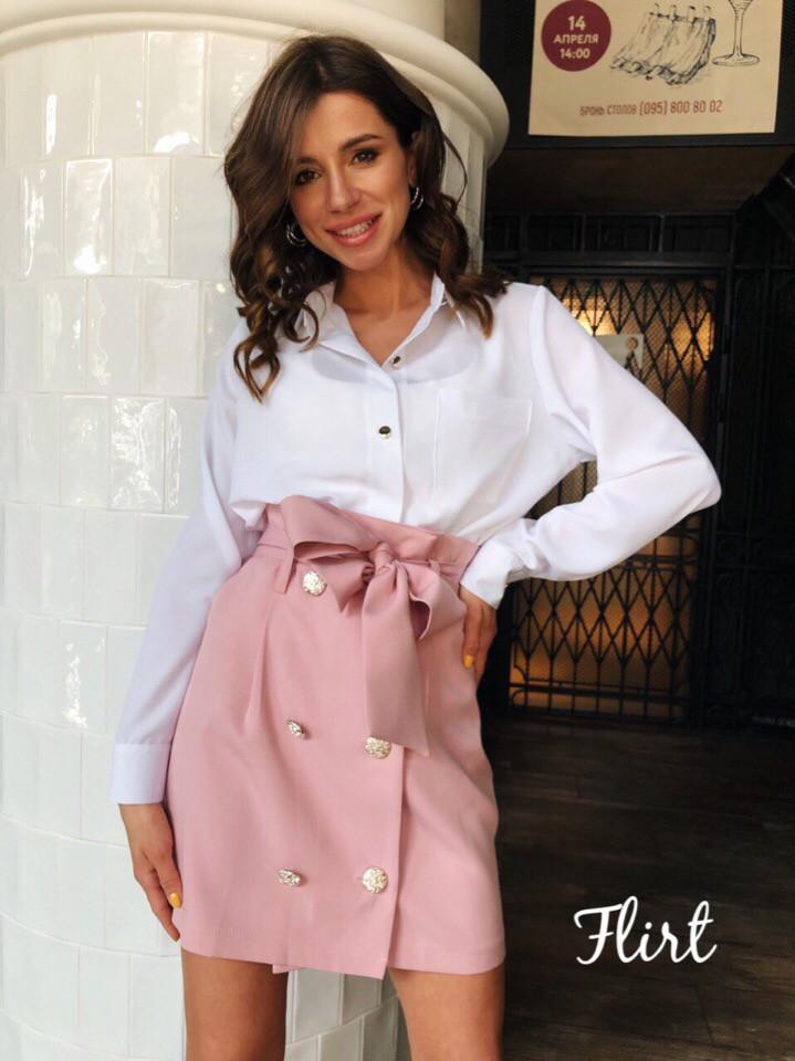 Блуза «Валерия», ткань: креп-шёлк. Размер: 42-44. Разные цвета (6323)
