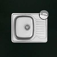 Прямоугольная, врезная кухонная мойка Falanco 58*48 см, фактурная, толщина 0,6мм, глубина 160мм, фото 1
