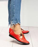 Мокасины женские легкие красные, фото 1