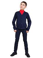 Жакет для мальчика трикотажный М-971 рост 16 122 128 134 140 146 и 152 Синий, фото 1