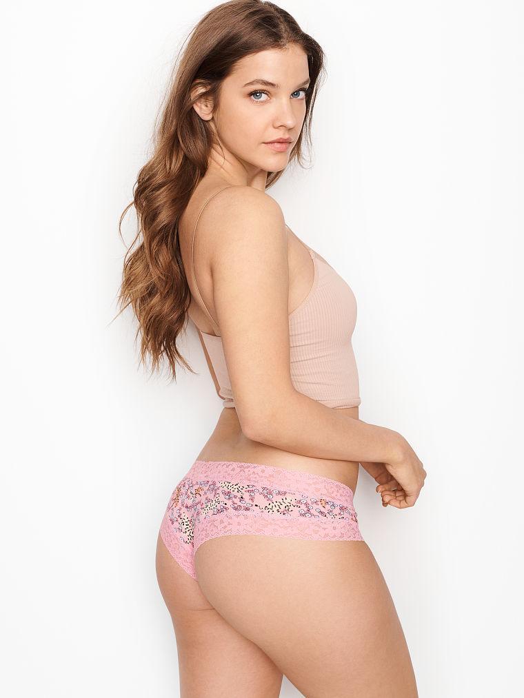 Хлопковые трусики Victoria's Secret Lace waist Cheeky Panty. Оригинал