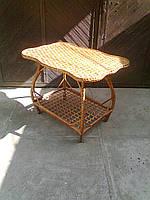 Столик журнальный. Плетеная мебель из лозы.