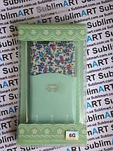 Дизайнерский чехол ручной работы для Iphone 6 (цветы с кармашком), фото 3