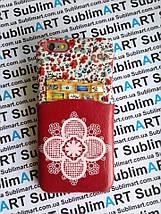Дизайнерский чехол ручной работы для Iphone 6 (цветы с кармашком), фото 2