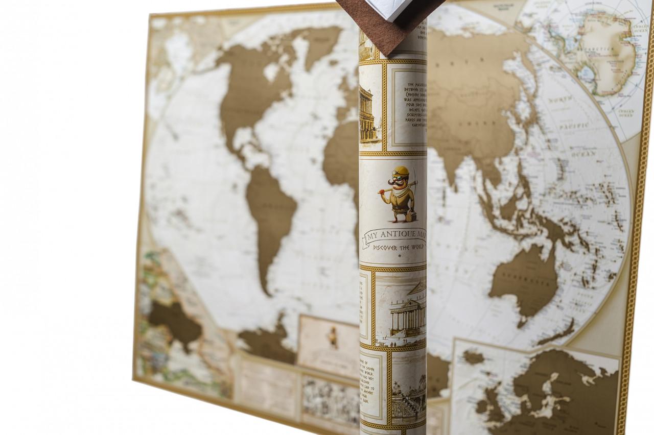 Скретч карта My Antique Map с увеличенными картами Европы и Украины, фото 1