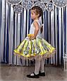 Детское нарядное платье Жасмин белый-желтый (30-34), фото 3