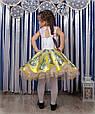 Детское нарядное платье Жасмин белый-желтый (30-34), фото 4