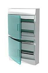 Mistral IP41 шкаф накладной,  72 модулей,  прозрачная дверь
