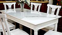 Мягкое стекло, прозрачное покрытие на тканевую скатерть и для защиты деревянных столов, м'яке скло