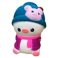 Мягкая игрушка антистресс Сквиши Squishy Свинка в розовой жилетке №58