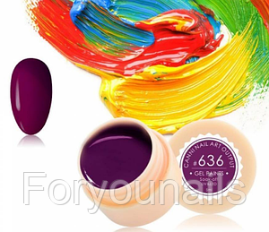 Гель-краска CANNI 636 темно-сливовая