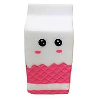 Мягкая игрушка антистресс Сквиши Squishy Пакет с молоком с запахом №27